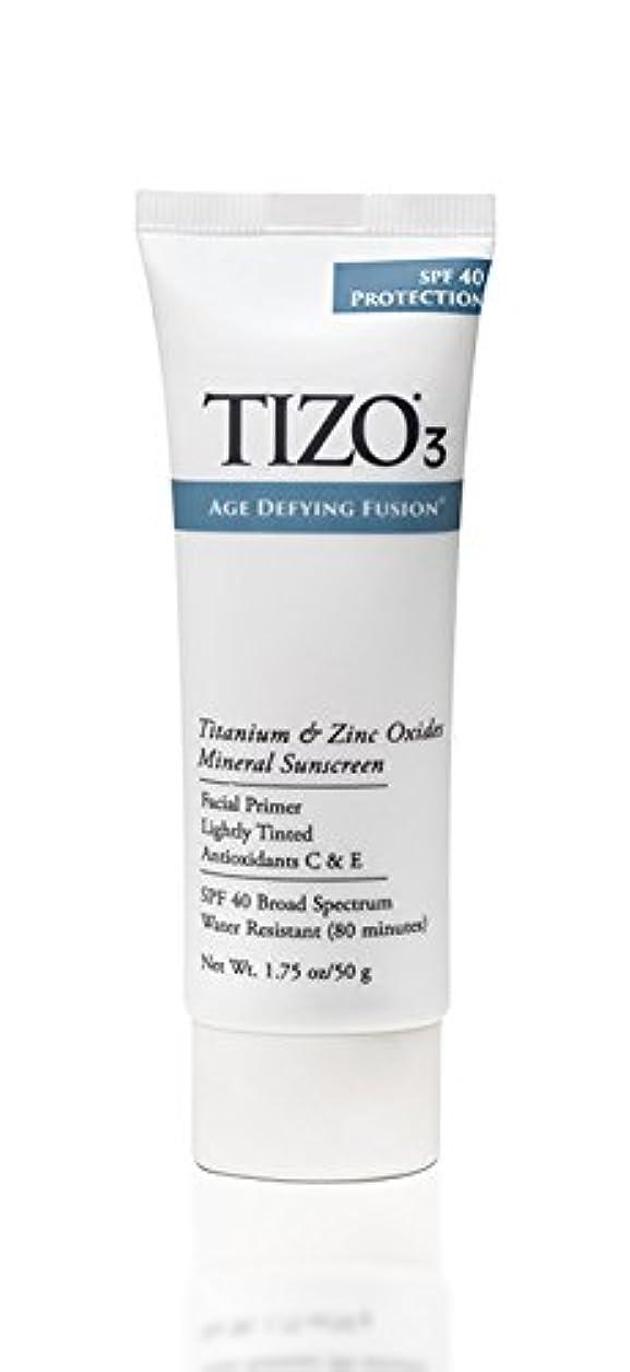 定説ヒューマニスティック割り当てるTizo 3 Facial Mineral Sunscreen Tinted SPF40 50ml