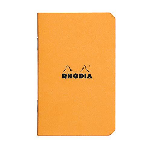 Rhodia Slim Slim Staplebound Notebooks - Graph 48 sheets - 3 x 4 3/4 in. - Orange cover (119158C)