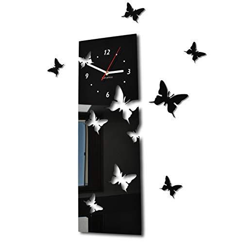 FLEXISTYLE l'horloge, Acrylique, Noir, 20 x 60 cm