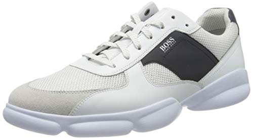 BOSS Herren Newlight_Runn_melt 10214593 01 Sneaker, Weiß (White 100), 45 EU