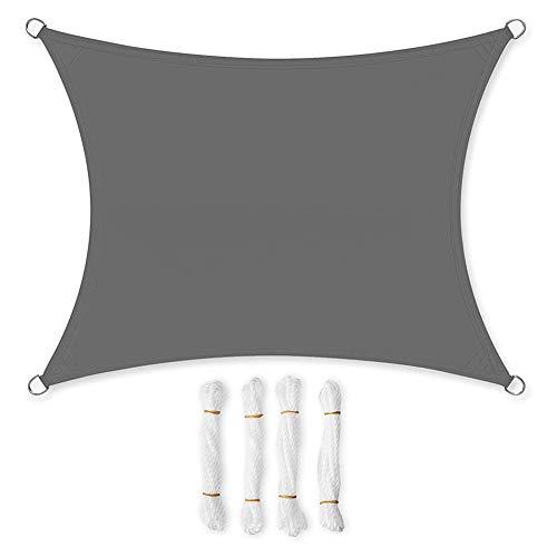 CRXL shop-Electric Dekens Zonneblok Schaduwdoek voor tuin, weerbestendig, zonwering, waterafstotende rechthoek, luifel caravan, zonnedak, windbescherming, privacyscherm, 3 x 4 m