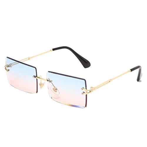 UKKD Gafas de Sol Gafas De Sol Sin Montura Cuadrada Mujeres Pequeñas Gafas De Sol Tonos Gafas De Sol Uv400 Gafas