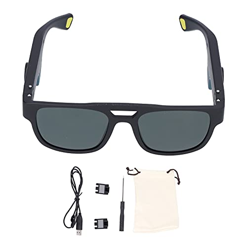 Pwshymi - Gafas de Sol inalámbricas con Bluetooth para conducción ósea