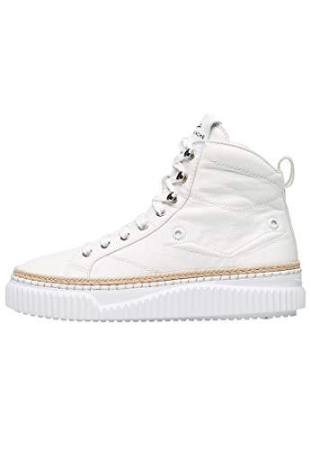 VOILE BLANCHE MAIORCA HIGH - Zapatillas altas de piel y adornos de manualidades, color Blanco, talla 41 EU