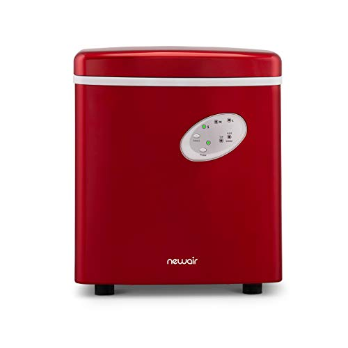 NewAir Portable Ice Maker 28 lb Daily Icemaker, 3 Ice Bullet Sizes, Perfect Machine for Countertops, NIM028RE00 Red