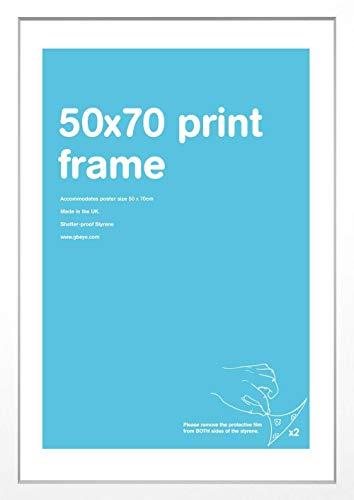 GB eye LTD FMZ4A1WH - Cornice per poster in MDF, Bianco, 50 x 70 cm
