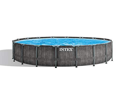 Intex Pool Set Greywood Frame Premium-Juego de Piscina (Marco de Prisma, 5,5 x 122 cm)