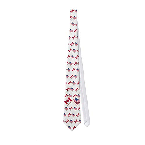 Corbata clásica de los hombres Canadá y Estados Unidos cruzó las corbatas de los hombres corbata