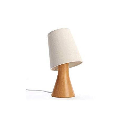 HTL Lámpara de Lectura Iluminación Decorativa Lámpara de Mesa de Madera, Regulable Luz de la Noche, Ajustable para Estar Sala de Estudio Luces de la Habitación Escritorio, 13X26Cm