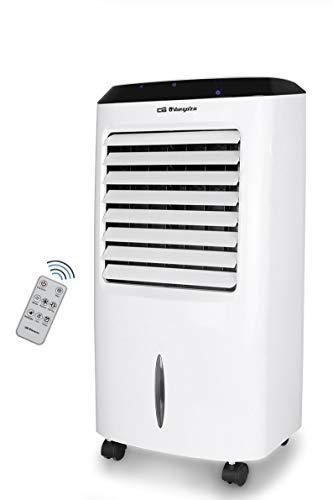 Orbegozo Air 52 Climatizzatore evaporativo 3 in 1, 3 velocità, timer, telecomando, accumulatori di freddo, serbatoio da 10 l, 65 W