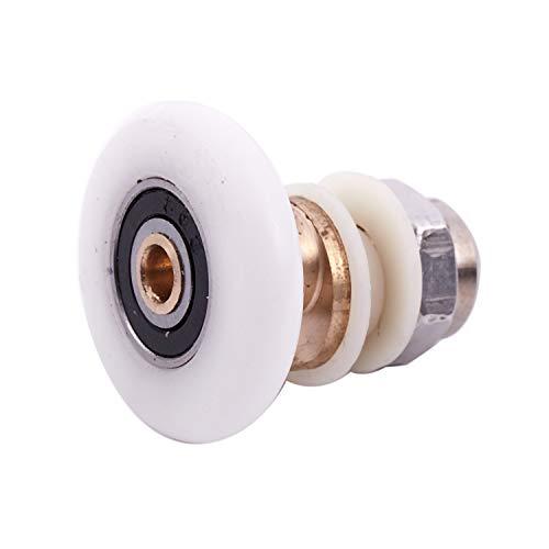 NEYOANN Rueda corredera de rodillo para puerta corredera de ducha, 27 mm de diámetro de
