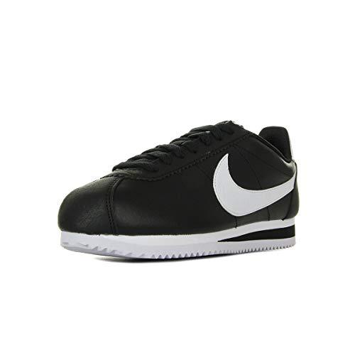 Nike Wmns Classic Cortez Leather, Scarpe da Ginnastica Basse Donna, Nero (Black/White/Black 001), 39 EU