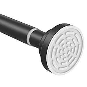TEECK Shower Curtain Rod, 26-39 Inch Adjustable Tension Spring, Shower Rod, Premium 304 Stainless Steel, Anti-Slip, No…