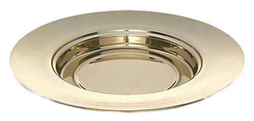 Sudbury Brass Bread Plate Church Supplies, 10 1/4 Inch