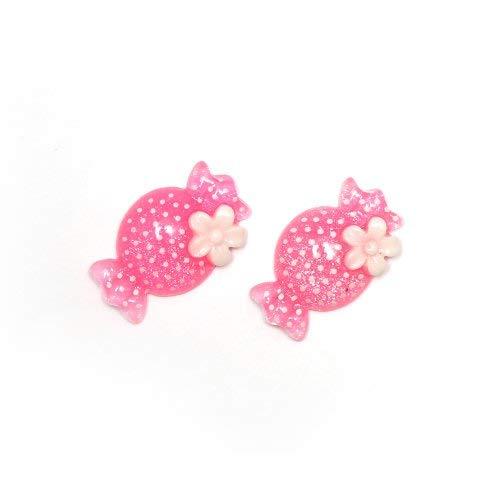 Idin Orecchini a clip - Caramella rosa (ca. 23 x 14 mm)
