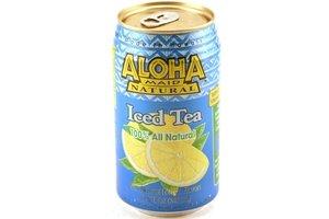 aloha maid iced tea 100% all natural (natural lemon flavor) - 11.84fl oz [12 units] (073366118047)