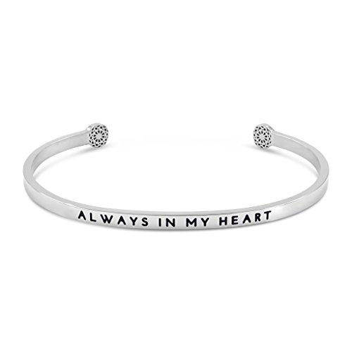 Simple Pledge - Always In My Heart - Armreif in Silber mit Gravur für Damen