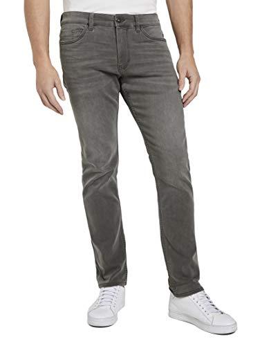 Tom Tailor Josh Slim Jeans, 10213 Clean Mid Stone Grey - Juego de Accesorios para Limpieza de uñas, 33W x 34L para Hombre