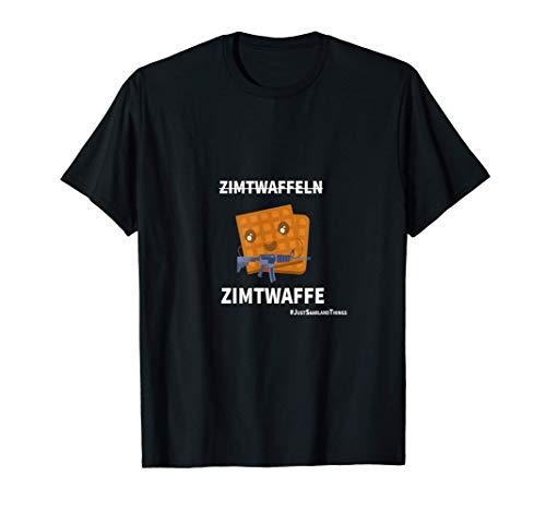 Zimtwaffeln Zimtwaffe Gewehr Backen für Saarländer T-Shirt