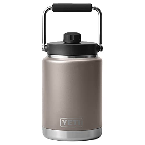 YETI Rambler Half Gallon Jug, Vacuum Insulated, Stainless Steel with MagCap, Sharptail Taupe