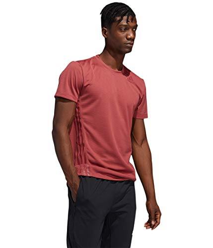 adidas Aeroready 3-Stripes Camiseta, Rojo heredado, Extra-Small para Hombre