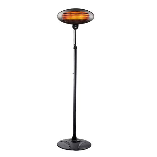 Neo 2KW Electric Quartz Outdoor Standing Waterproof Garden Patio Heater Heating