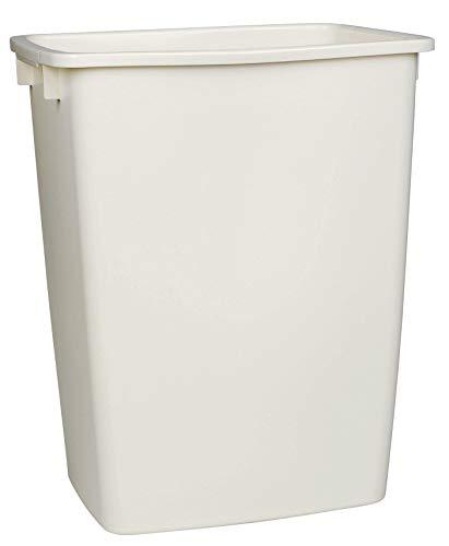 Rubbermaid Large Rectangle Wastebasket 36 Quart (Bisque)
