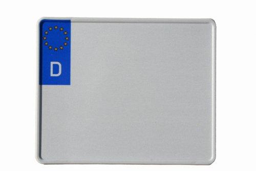 Motorrad-Kennzeichen EU 230 x 200 mm, reflektierend, Motorradschilder mit Wunschkennzeichen