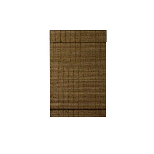 Radiance, Cordless Window Shades for a Custom Size Window Width, Maple, Cape Cod Flatweave Bamboo Roman Shade with Valance, 42 Inch Width x 64 Inch Length