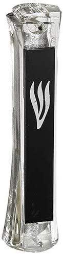 Sales results No. 1 Judaica Place Perspex Mezuzah Mesa Mall Case Designed Pla with Black Clear