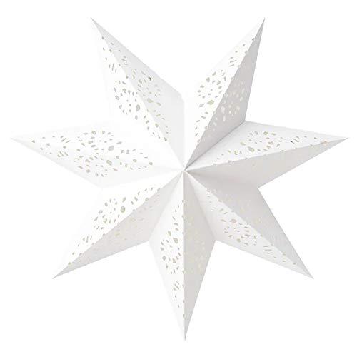 Weihnachtsstern IKEA Lampenschirm Strala sternförmiger Leuchtenschirm 48 cm aus Papier - Spitze weiß