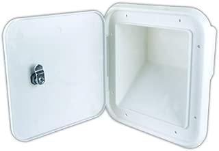 JR Products 31102-A Large Key Lock Multi-Purpose/Fuel Hatch with Slant Back, Polar White