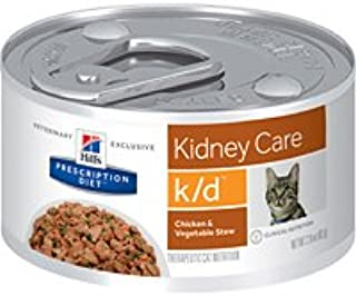 Hill'S Prescription Diet Kidney Care Chicken & Veg Stew Flavor Canned Cat Food, 2.9 Oz, 24-Pack, Small
