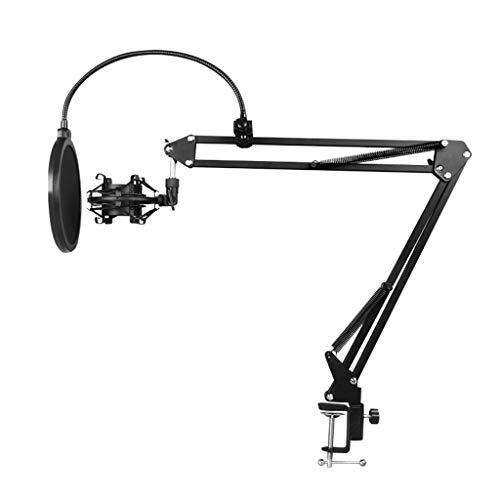 WDFVGEE - Soporte de brazo de suspensión para micrófono de condensador y soporte de mesa para accesorios de teléfono móvil