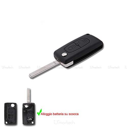 car passion Cover Chiave Guscio Citroen C2 C3 C4 C5 Picasso 2 Tasti Peugeot 107 206 207 307 308 406 407TELECOMANDO