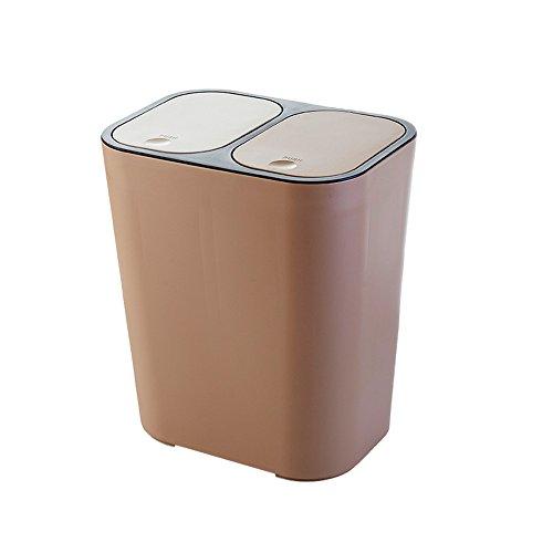 Trash can Poubelle en Plastique PP avec Couvercle Cuisine ménagère avec poubelles classées Poubelle