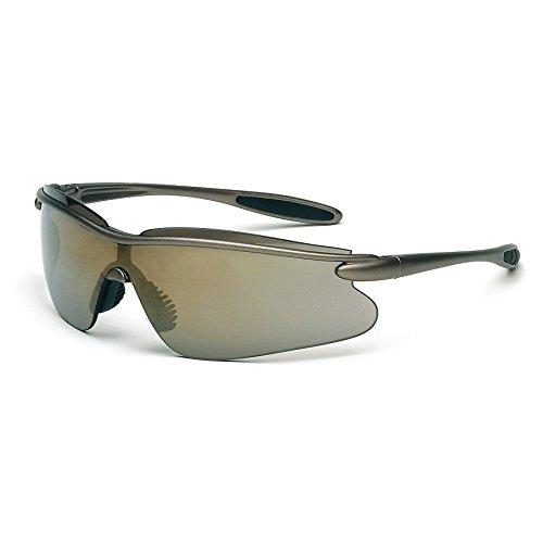 Galeton 9200374punto ligero anti-arañazos lente deporte y gafas de seguridad con almohadillas de nariz y templo extremos de goma, luz espejo de oro