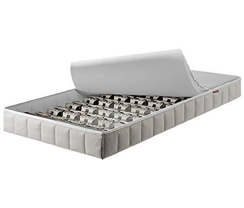 Lattoflex Babymatratze inkl Lattenrost Babybett 70 x 140 cm, waschbarer Bezug, leichte Hygiene, schadstoffgeprüft Ökotex Standard 100