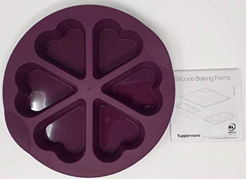 Tupper TUPPERWARE Backen Silikonform Mini kleine Form Muffin Muffinform Herz Herzform lila Silikon Form Backform