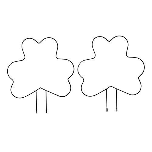 perfk 2 x Rankhilfen Stabiles Rankgitter Süßes Rankgerüst Niedliche Pflanzenstüze Klein Klettergerüst aus Metall Dekoration für Balkon Fensterbank Garten - A