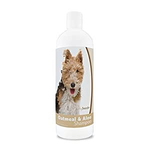 Healthy Breeds Aloe & Oatmeal Dog Shampoo Flea and Tick for Wire Fox Terrier – Over 200 Breeds – 16 oz – Mild & Gentle for Sensitive Skin – Hypoallergenic Formula & pH Balanced