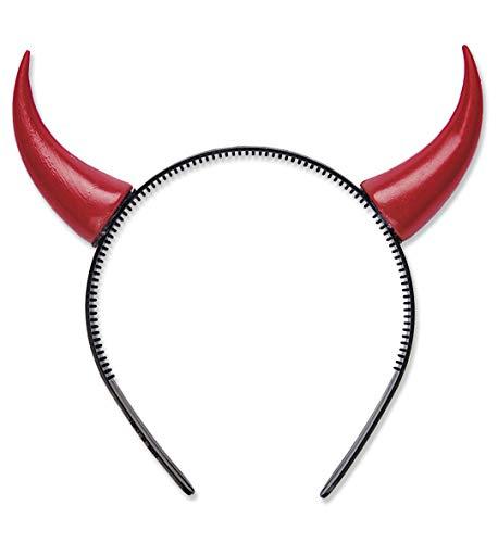 Teufelshörner aus Plastik in rot
