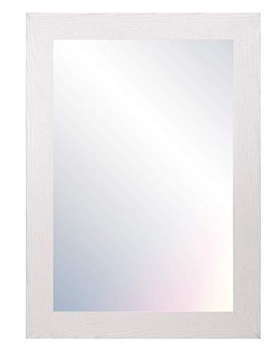 Chely Intermarket, Espejo de pared cuerpo entero 60x80cm (Marco exterior 71,1x91,1 cm) MOD-113 (Blanco) Forma Rectangular | Decoración de salón, recibidor o comedor | Acabado elegante (113-60x80-6,10)