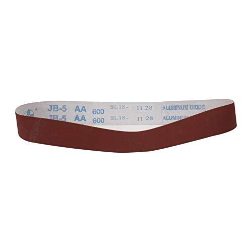 XuCesfs Schleifbänder für Winkelschleifer, 580 x 30 mm, Körnung 60-600, 10 Stück, 60