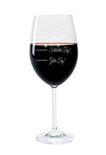Leonardo Weinglas mit Gravur Motiv Guter Tag - Schlechter Tag - Frag Nicht Good-Day Wein-Glas graviert Stimmungsbarometer Geschenkidee