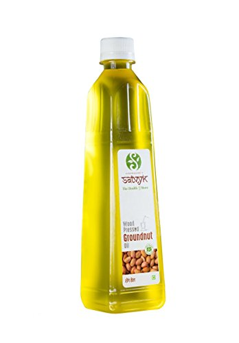 S Siddhagiri's SATVYK THE HEALTH re STORE Organic Woodpressed Groundnut Oil (1Ltr)