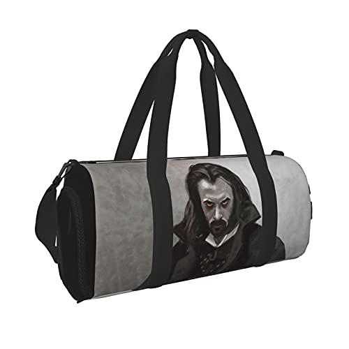Vampire Diaries Durable Gym Overnight Travel Men Women Bolsa de lona ligera con bolsillo interior para viajes