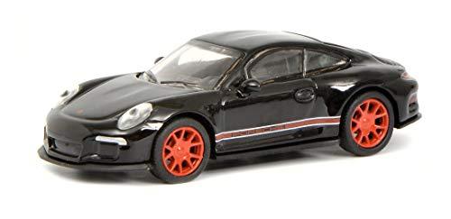 Schuco 452637400 Porsche 452637400-Porsche 911 R, Modelauto, 1:87, zwart/rood