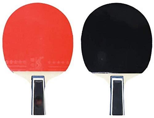 JRPT Raquetas de Tenis de Mesa,Raquetas de Ping Pong Diseño de mango ergonómico,Juego de Paleta de Ping-Pong disparo horizontal, principiantes/C