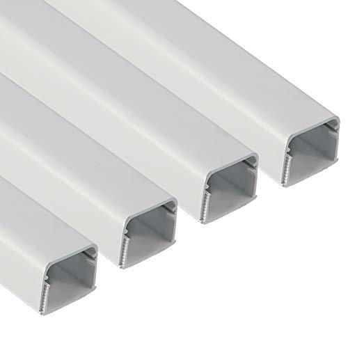 FUSIYU Canaletas para Cables [4 * 1M],Canaleta Adhesiva para Cableado en PVC...